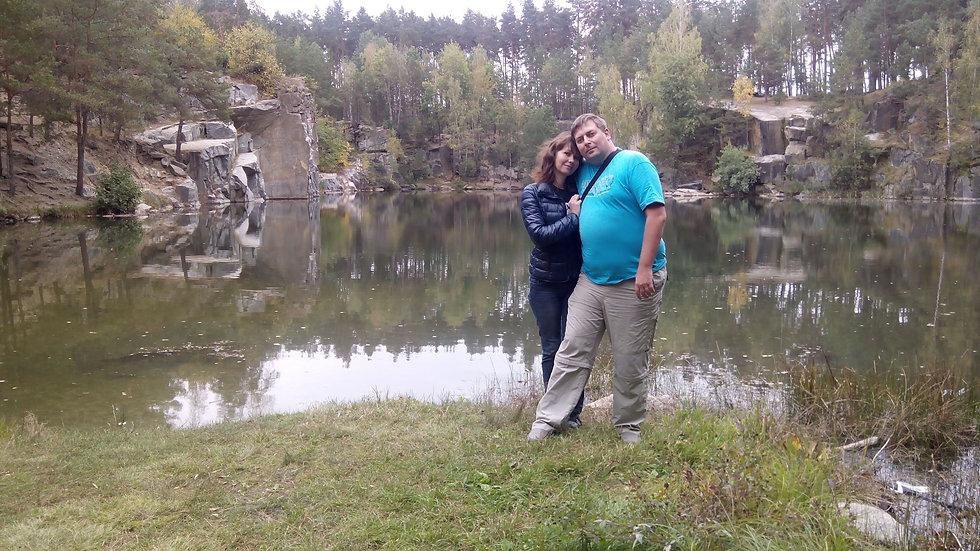 Фото возле озера в Коростышевском каньоне