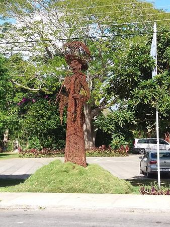 Статуя мексиканской Катрины