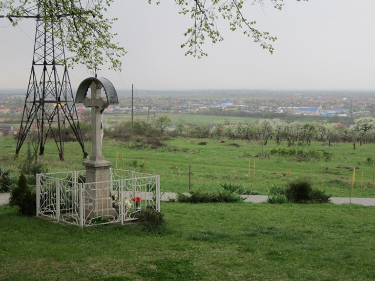 Вид на Ужгород из Горянской ротонды