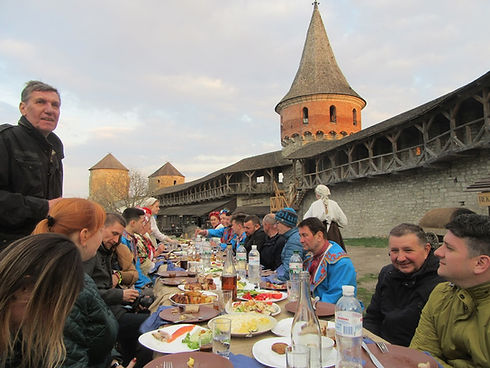 Торжественный ужин блогеров в Крепости