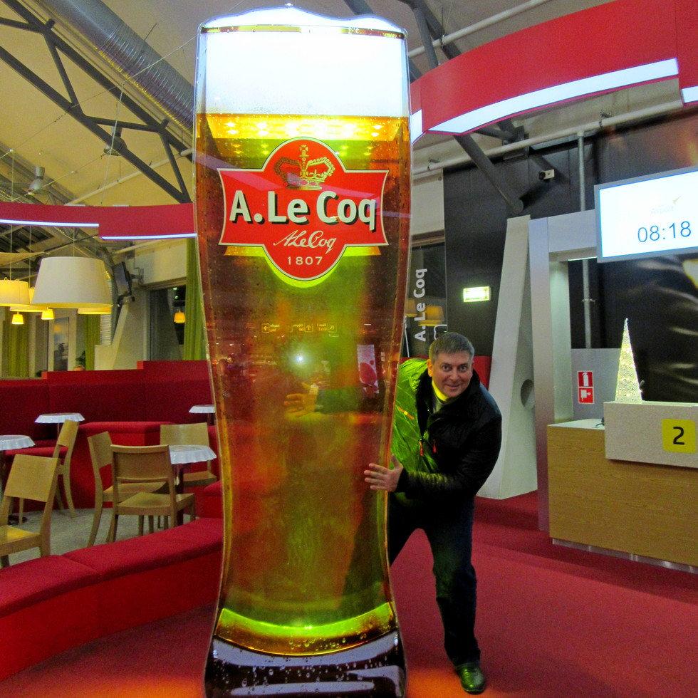 Пиво в аэропорту Таллинна
