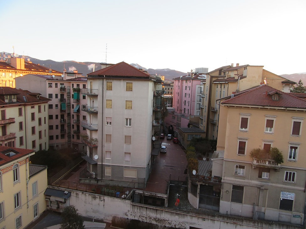 Улочки нижнего города в Бергамо