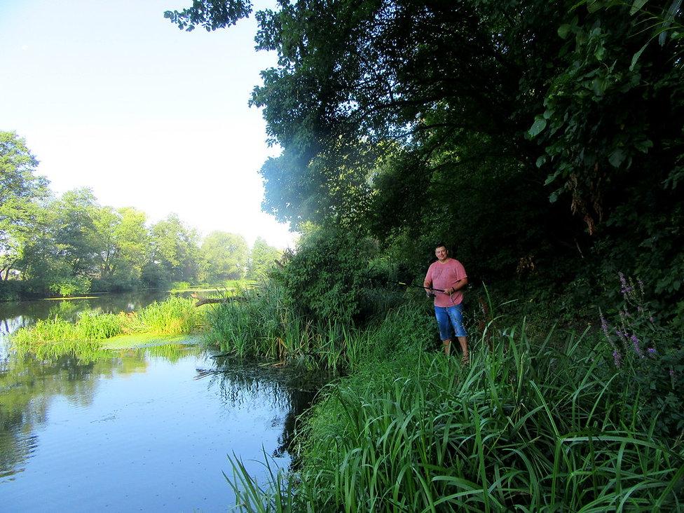 Рыбалка на реке Рось