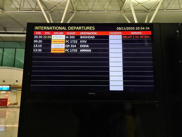Расписание международных рейсов