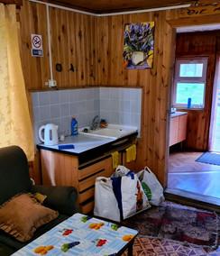 Гостиная с кухонным уголком