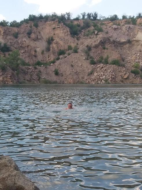 Радоновое озеро, купание