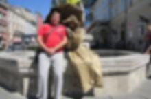 Живые фигуры во Львове