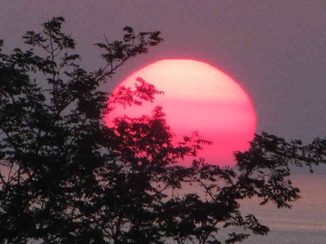 Закатное солнце в Чакви