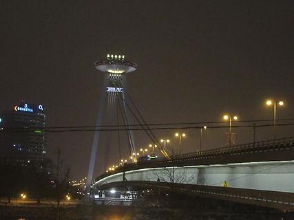 Ночной вид на ресторан UFO