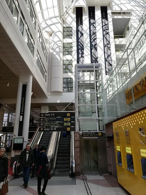 Внутри автовокзала Стокгольма