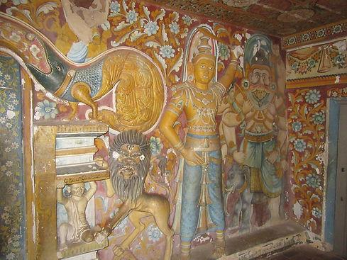 Сюжетный рисунок на стене пещеры