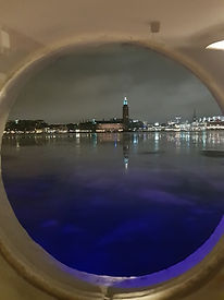 Вид из каюты с подсветкой