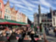 Центральная площадь города Брюгге