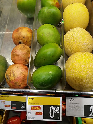 Цены на манго в Братиславе