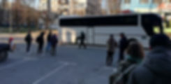 Автобус везущий в Чернобыль
