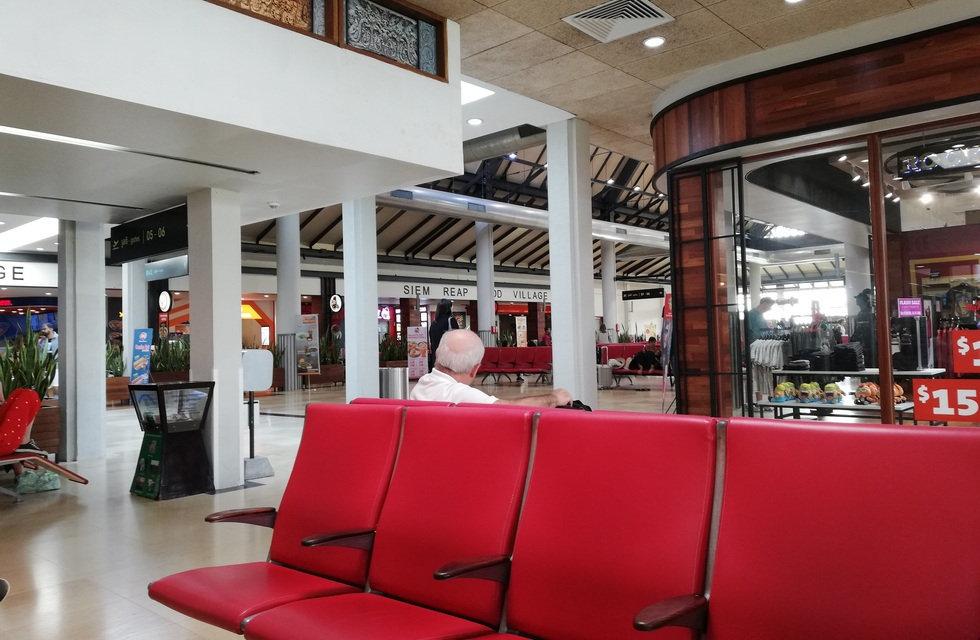 Зал вылета аэропорта Сиемреап