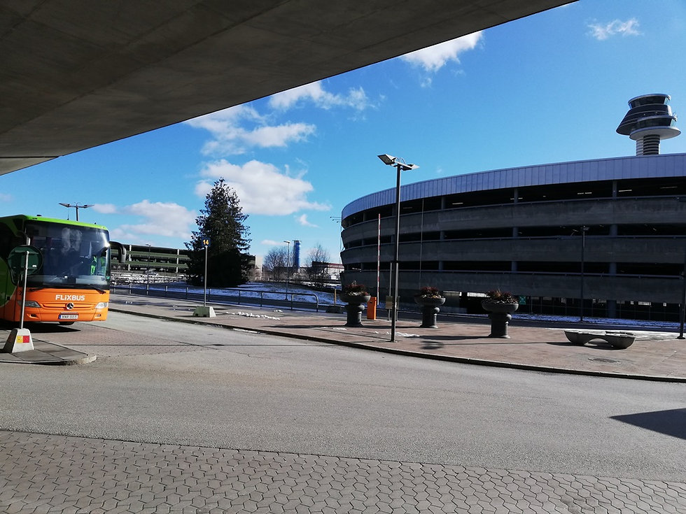 Остановка возле аэропорта Арланда
