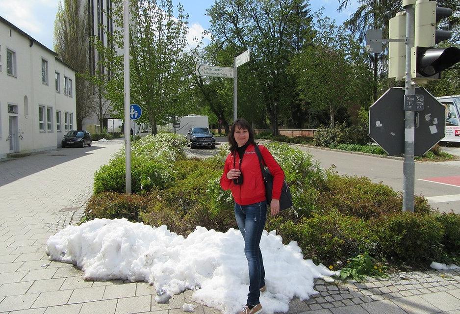 Снег в конце апреля. Мемминген, Германия