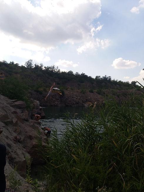 Радоновое озеро, ныряльщик