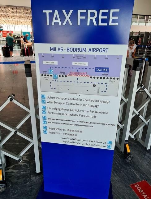 Схема получения Tax Free в аэропорту Бодрума