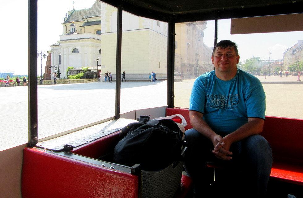 Экскурсионный автобус в Варшаве