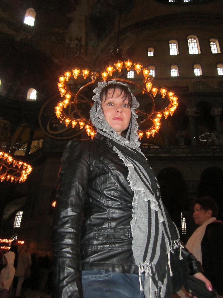 Внутри собора Святой Софии, Стамбул