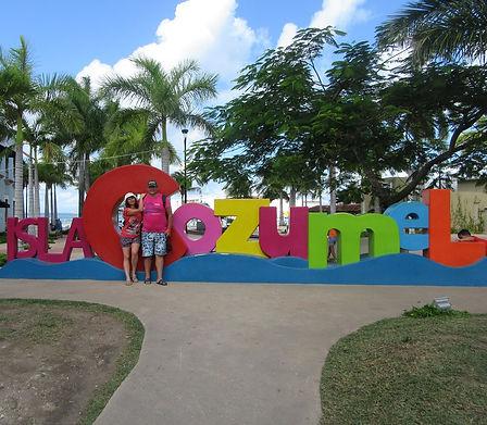 Цветные буквы Cozumel