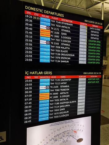 Расписание внутренних рейсов