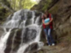 Фотография возле водопада Шипит, Закарпатье
