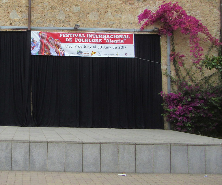 Сцена фестиваля Alegria