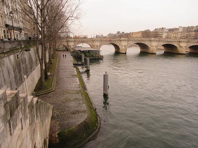 Река Сена и мост в Париже