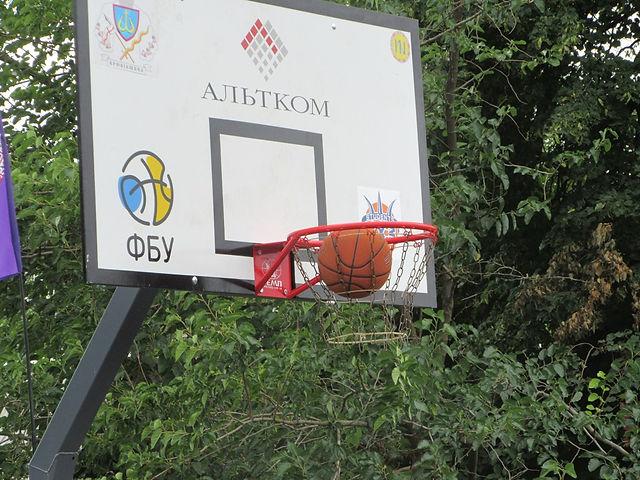 Открытие баскетбольной площадки