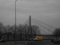 Вантовый мост в Риге