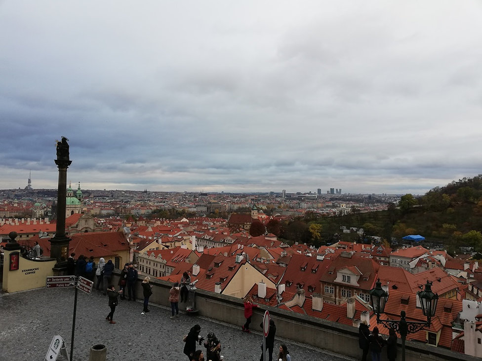 Панорама Праги от королевского дворца