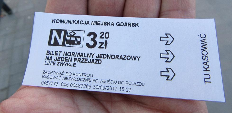 Гданьск, билет на транспорт