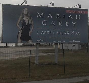Афиша концерта Mariah Carey