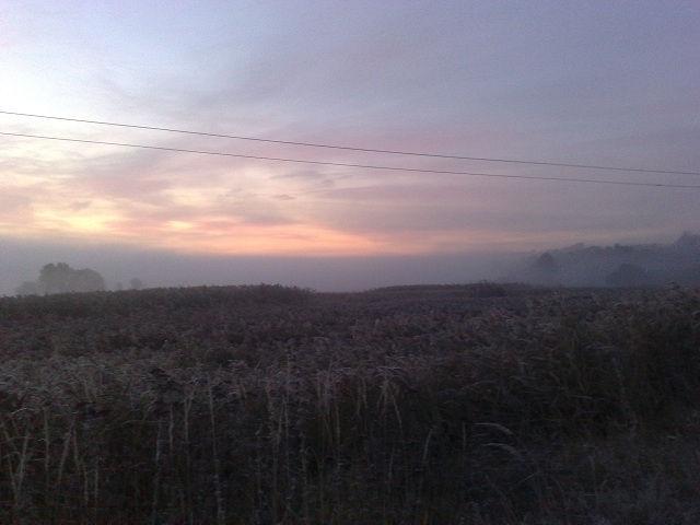 Рассвет в селе Песчаное, Харьковская область