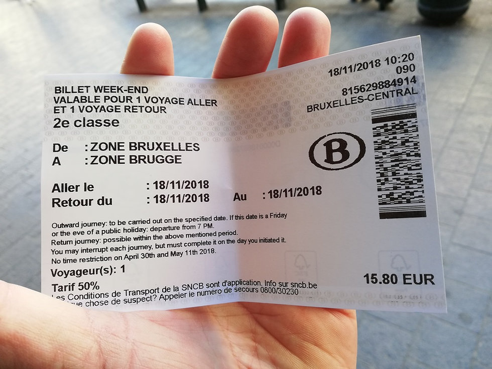 Билет на поезд в Бельгии