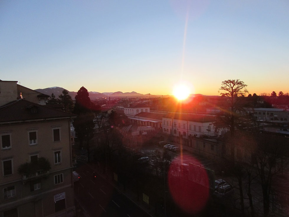 Рассвет в Бергамо