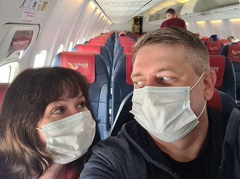 Первый полет в маске