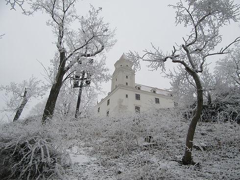 Братиславский град в снегу