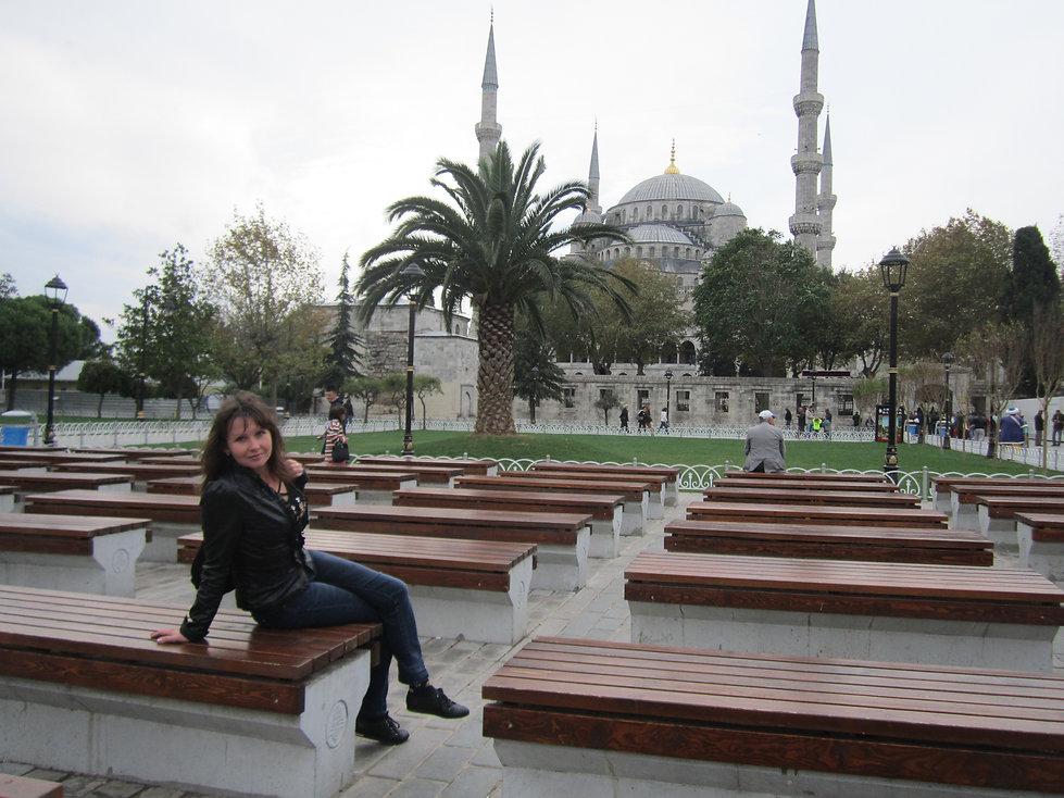 Вид на Голубую мечеть в Стамбуле