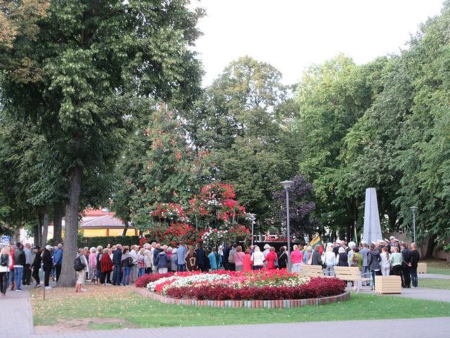Дань памяти латышским героям