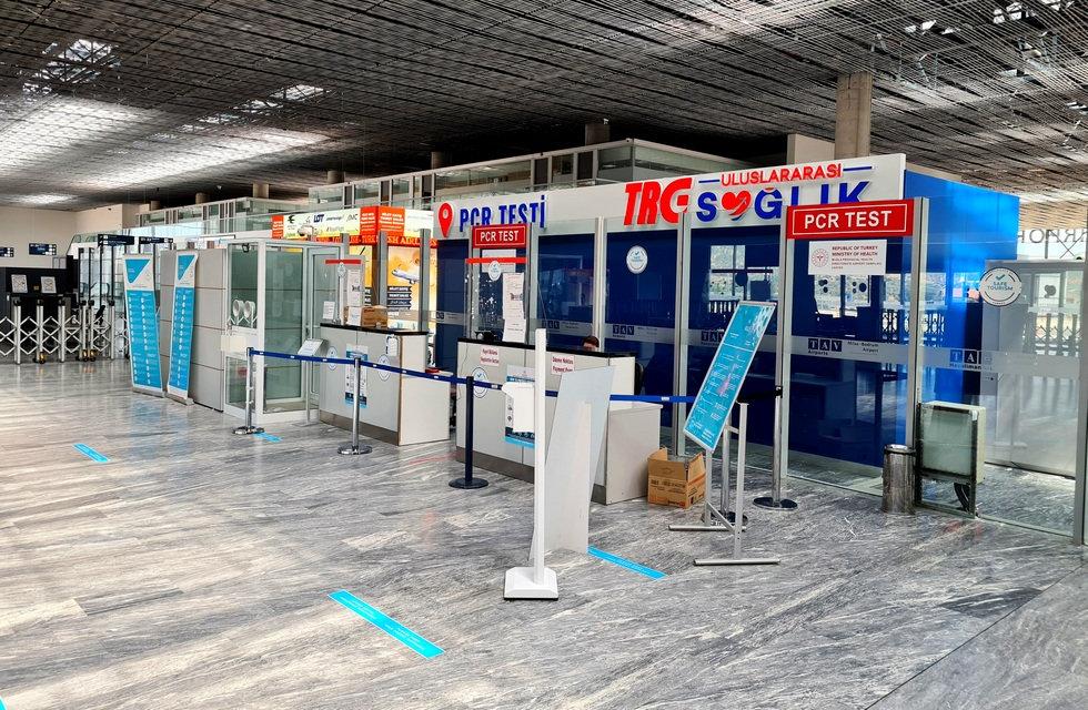 Тестирование на ковид в аэропорту Бодрум