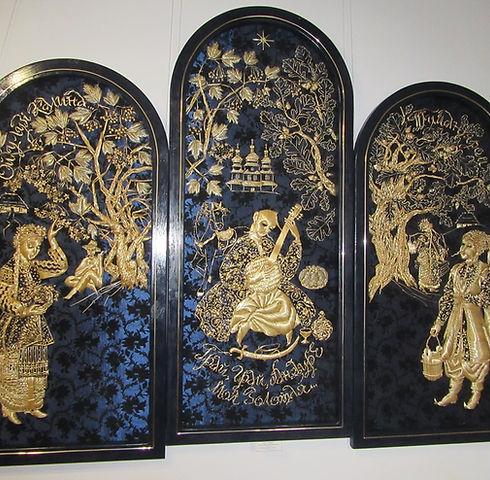 Каменец-Подольский музей, вышивка соломою