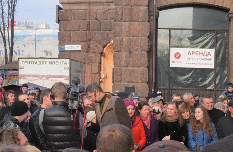 Съемки Караоке на Майдане