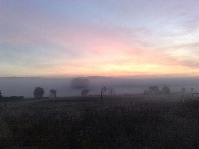 Восход солнца в селе Песчаное, Харьковской области