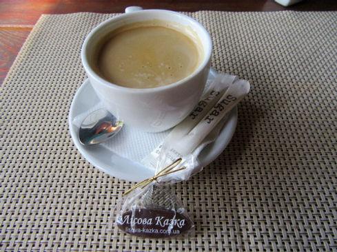 Кофе в кафе Лесная сказка