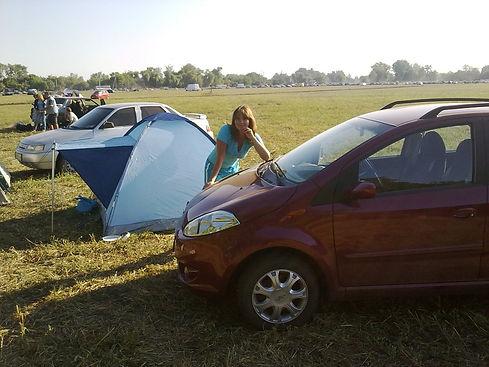 Ставим палатку в кемпинге
