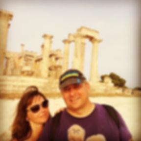 Селфи возле храма Афайи